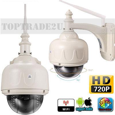 2MP HD 720P CCTV IP Dome Kamera Wlan Funk Überwachungskamera Outdoor Nachtsicht#