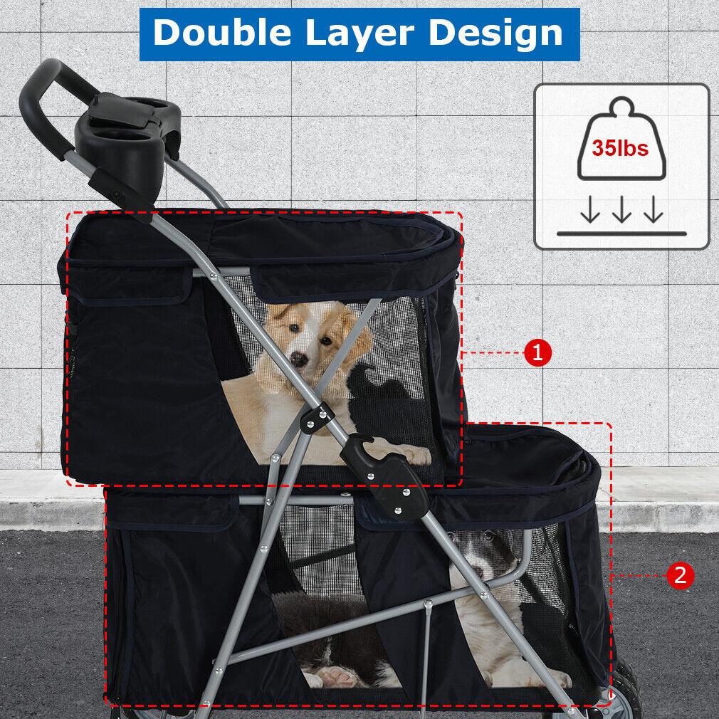 Dog Stroller Cat Stroller Pet Carriers Bag Jogger Stroller for Small Medium Dogs Dog Supplies