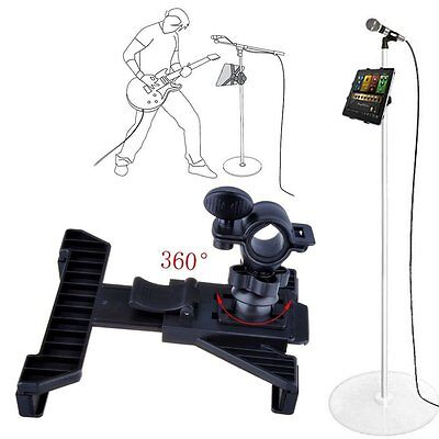 """Music Microphone Stand Holder Mount For 7-13"""" Tablet iPad 4 3 2 Air Samsung Tab"""