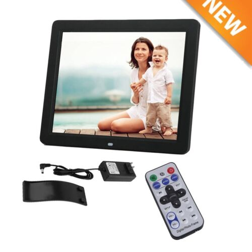 New 15 Inch Wide LCD Screen Multimedia Digital Photo Picture Frame Black