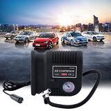 Air Compressor Portable Pump 300 PSI Auto Car SUV Tire 12V volt +3 adapters SA