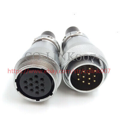 Ws28 12pin Connector 500vac High Voltage Industrial Power Cable Connector 10a