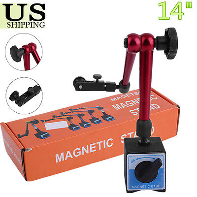 Universal Flexible Magnetic Metal Base Holder Stand Dial Test Indicator Tool 14