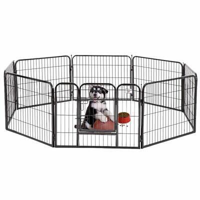 "BestPet 24″ 32″ 40"" 8 Panel Heavy Duty Pet Playpen Dog Exercise Pen Cat Fence Cages & Crates"