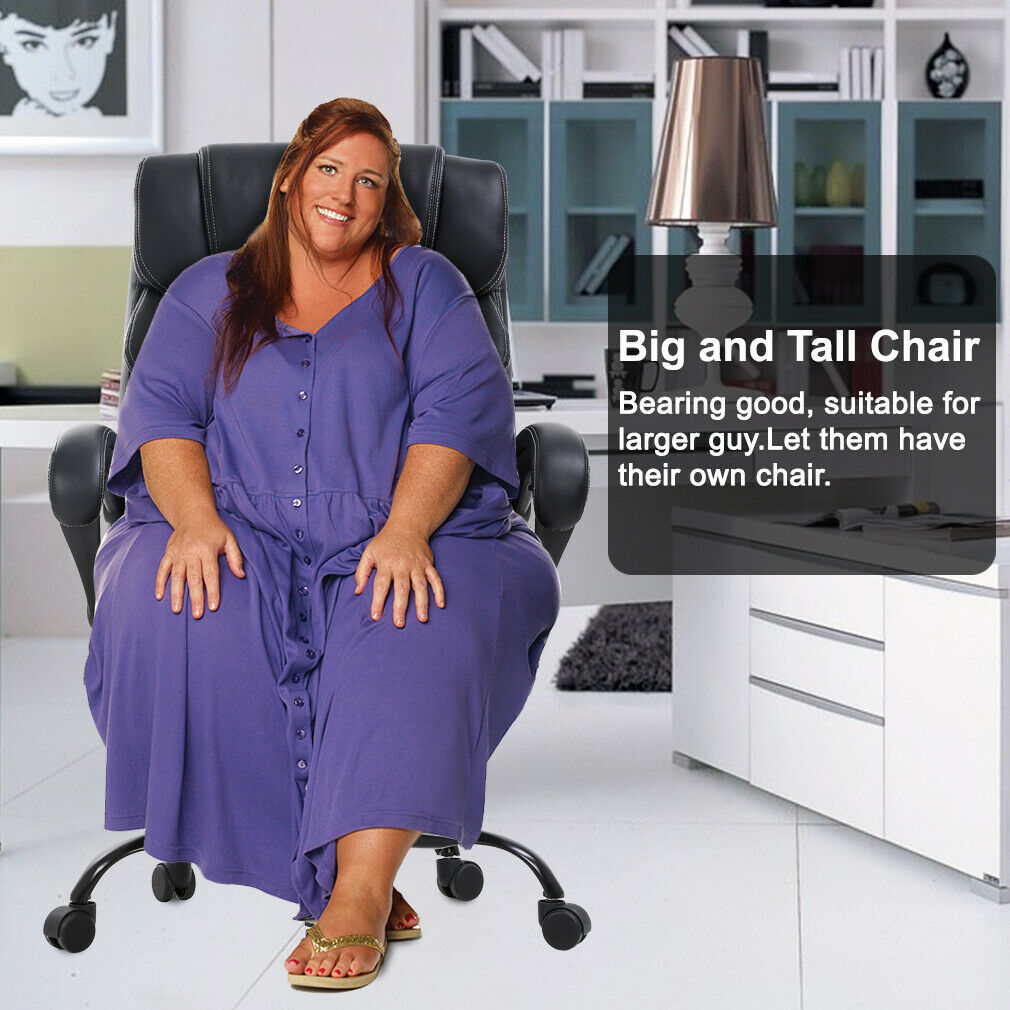 Big Tall Office Chair 400lbs Wide Seat Ergonomic Desk Chair with Lumbar Support Chairs
