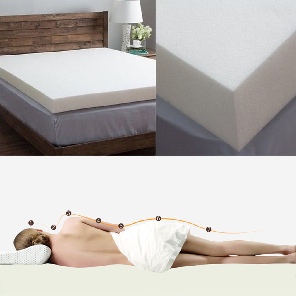twin full queen king 5 5 memory foam mattress pad visco bed topper 2 3 4inch oy ebay. Black Bedroom Furniture Sets. Home Design Ideas