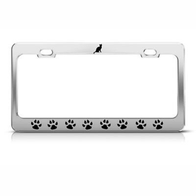 Cats Kitty Paw Paws Animal Steel Metal License Plate Frame - Kitty Paw