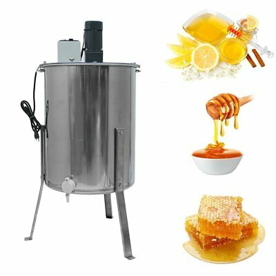 Electric Four 4/8 Frame Stainless Steel Honey Extractor (BEE-V004E) US SHIP