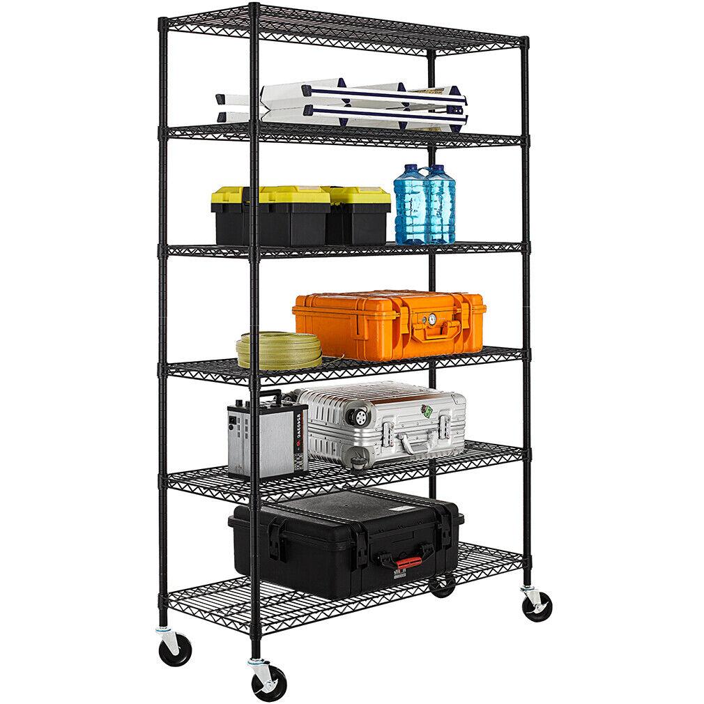 "New 6 Tier Wire Shelving Unit NSF Metal Shelf Rack 2100 LBS Capacity 18""x48""x72"" Home & Garden"