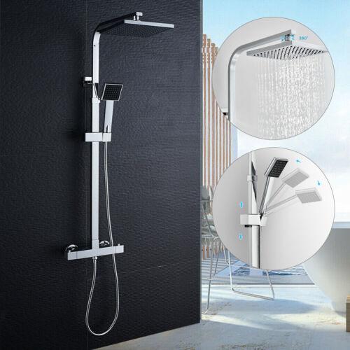 Duschsystem mit Thermostat Duscharmatur Regendusche Duschset Duschkopf Dusche DE