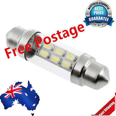 White 38mm 6 SMD LED Auto Car Interior Festoon Dome Light Bulb Lamp DC 12V vy