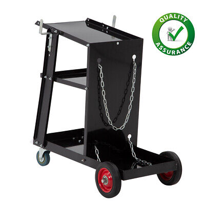 Welding Cart Welder Plasma Cutter Cart 3-tier Universal Heavy Duty Black Finish