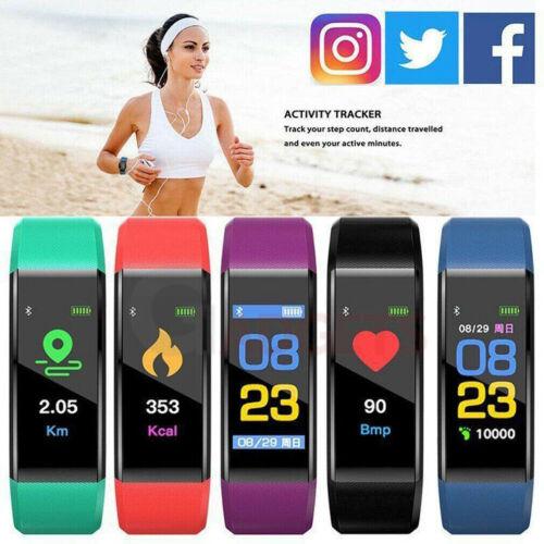 Fitness Smart Watch Heart Rate Activity Tracker Women Men Ki