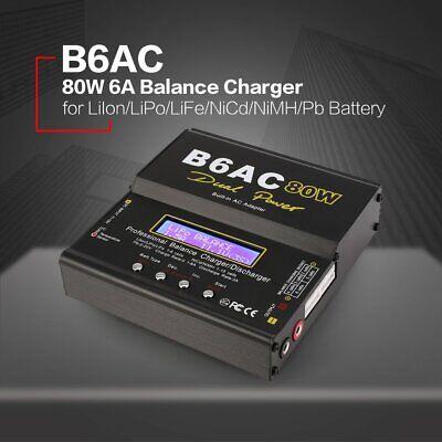 Profi B6AC 80W Digital LCD Ladegerät Li-ion Li-Po NiCd Ni-MH Balance Charger  L Digital Balance