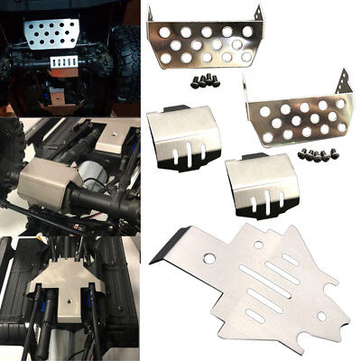 - Stainless Steel Protector Skid Plate Sets For 1/10 Traxxas TRX-4 Racing RC Car
