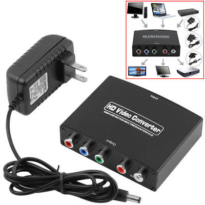New HDMI to 5RCA RGB Component YPbPr Video +R/L Audio Adapter Converter HD TV