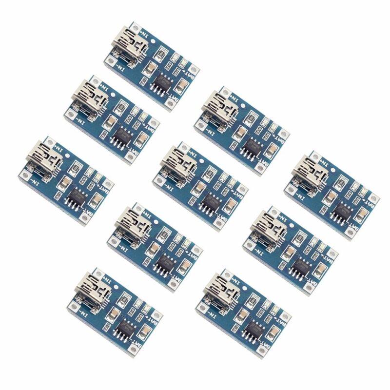 10PCS TP4056 Mini USB 1A Lithium Battery Charger Module Charging Board 4.5V-5.5V