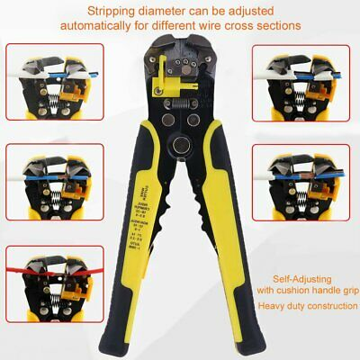 Us Professional Automatic Wire Striper Cutter Stripper Crimper Pliers Tool Bp