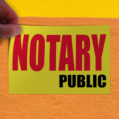 Decal Sticker Notary Public Promotion Business Business Outdoor Store Sign