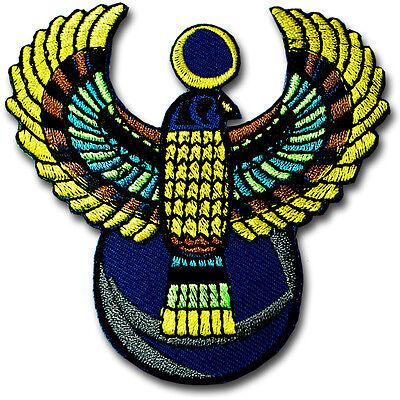 Egyptian Bird God Patch Embroidered Hippie Headdress Applique Sew Badge Pharaoh