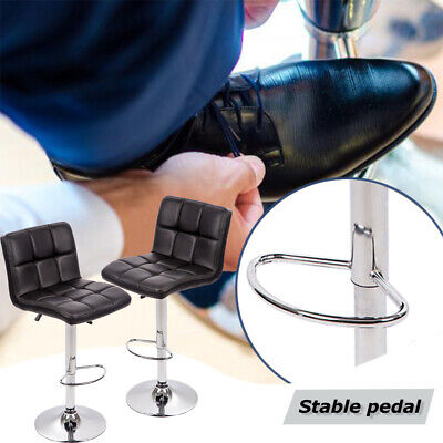 Set of 2 PU Leather Adjustable Bar Stool Counter Height Chair with Backrest, B06 Benches, Stools & Bar Stools