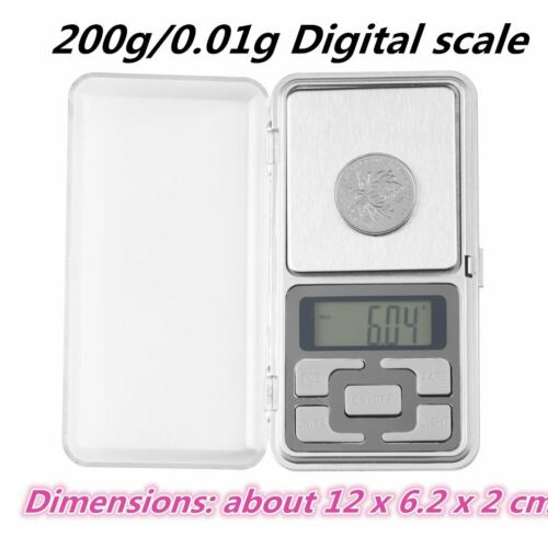 200g/0.01g Mini Digital Scale LCD Electronic Jewelry Gold Pocket Gram WeigMC