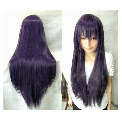 Dark Purple Wig (Hot Charms 40''/100CM Dark Purple Long Straight Synthetic Wigs Cosplay Wig)