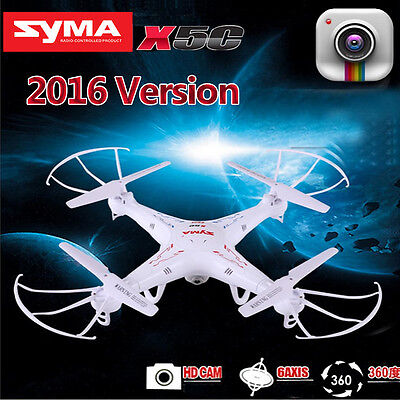 Syma X5C-1 Explorers 2.4G 4CH 6-Axis Gyro RC Quadcopter Drone HD Camera LCD TO
