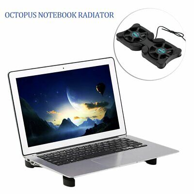 Laptop Notebook Cooler PC USB Cooling Fan Stand Pad Fits 14 Inch @UK Stock