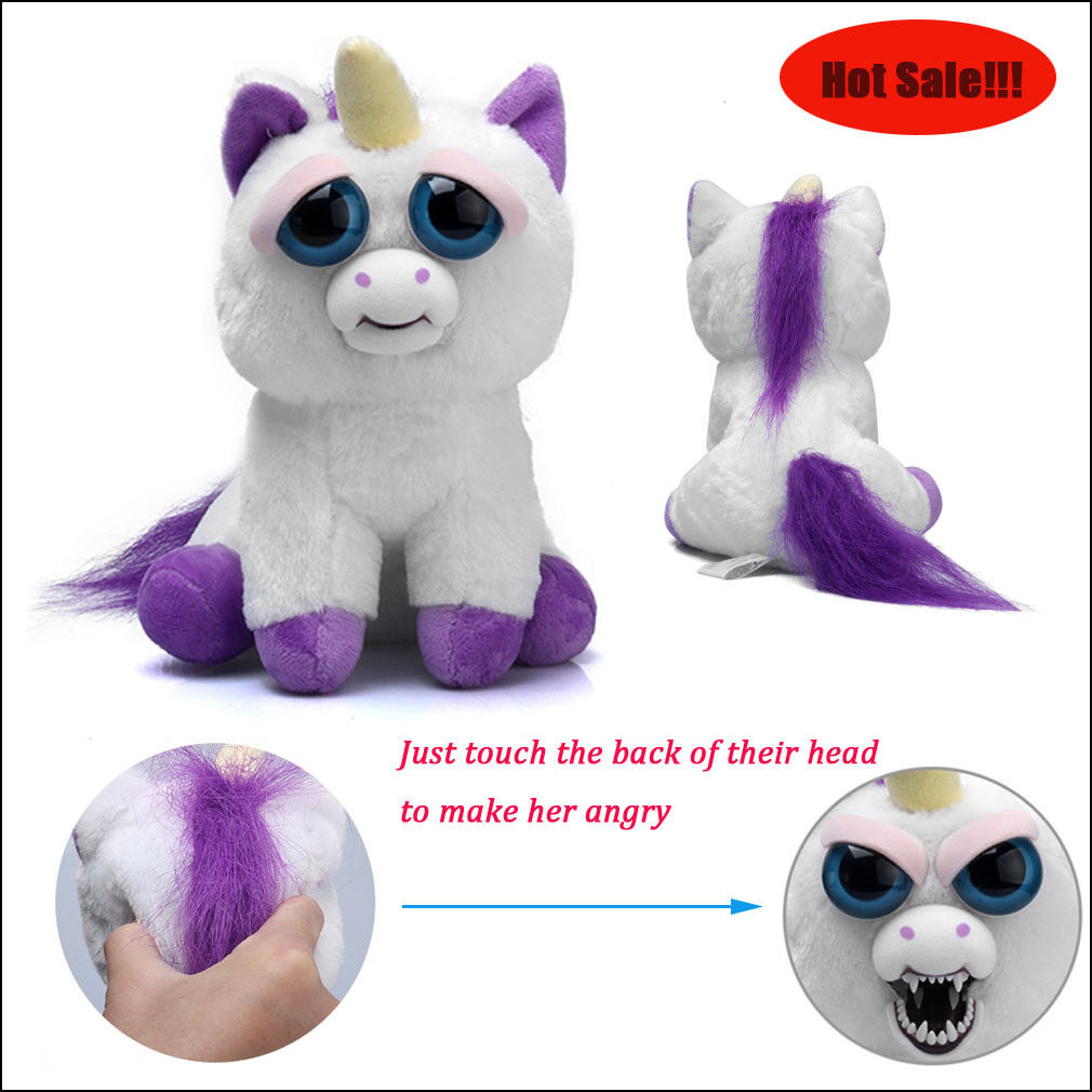 Unicorn Toys For Kids : Parent child feisty scary face soft kids plush stuffed toy