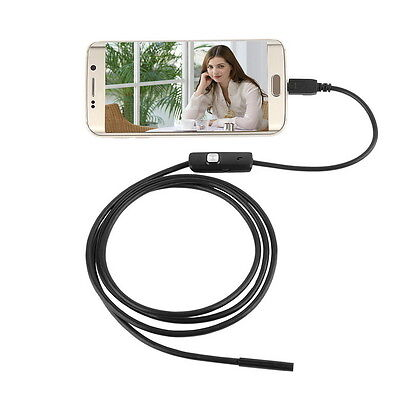 7mm Android Phone Endoscope Ip67 Inspection Borescope Hd 6 Led Video Camera 3yb