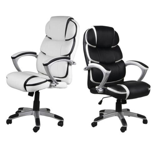 Executive Office Chair High-Back Task Ergonomic Computer Desk Study PU Leather E