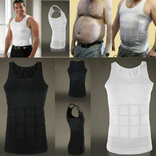 US Men's Body Slimming Vest Waist Belly Chest Shaper Underwear T-Shirt Clothing, Shoes & Accessories