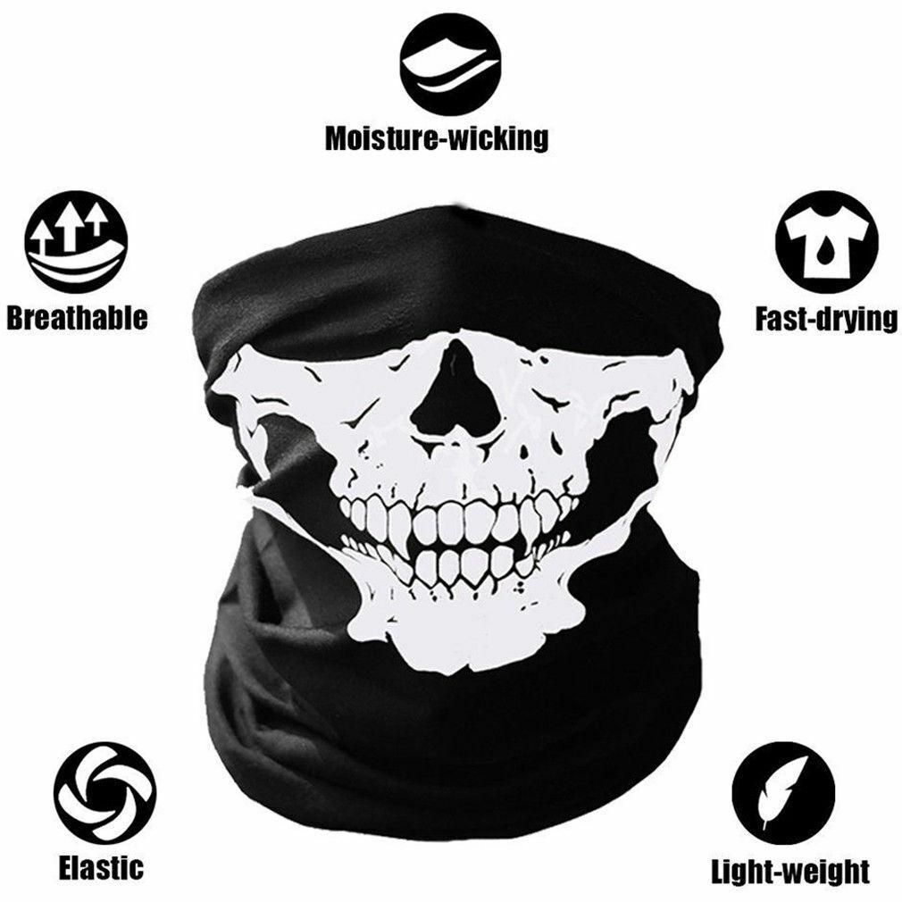 Biker Skull Hood Face Mask Motorcycle Ski Balaclava CS Sport Helmet Clothing