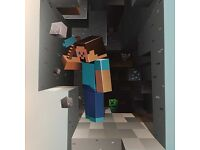 Minecraft 3D Wall Sticker For Kids Room. Non-toxic(Removable) 9.99 for 1 sticker