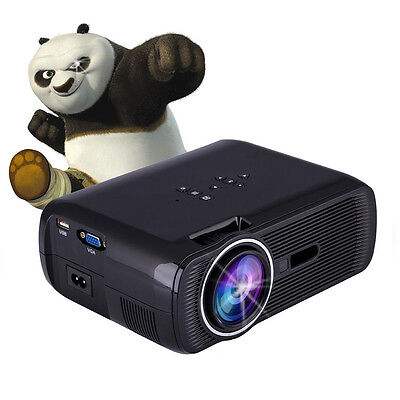 7000 Lumens Full HD 1080P LED LCD 3D VGA HDMI TV Home Theater Projector Cinema O