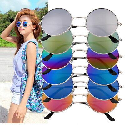 Frauen-Männer bunte Spiegelobjektiv-runde Gläser Sonnenbrille-WeinleseZW