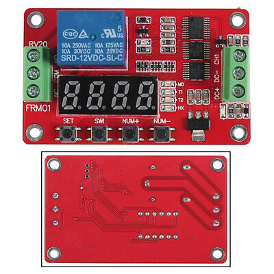 1xdc Multifunction Self-lock Relay Plc Cycle Timer Module Delay Time Switch 12v