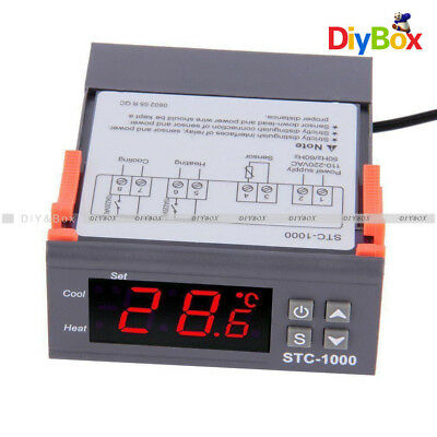 Digital Stc-1000 All-purpose Temperature Controller Thermostat With Sensor D