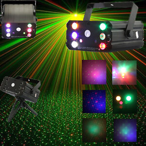 Disco Mini 6 LED Show Laser Projektor DJ PARTY Licht Beleuchtung Stage Lighting