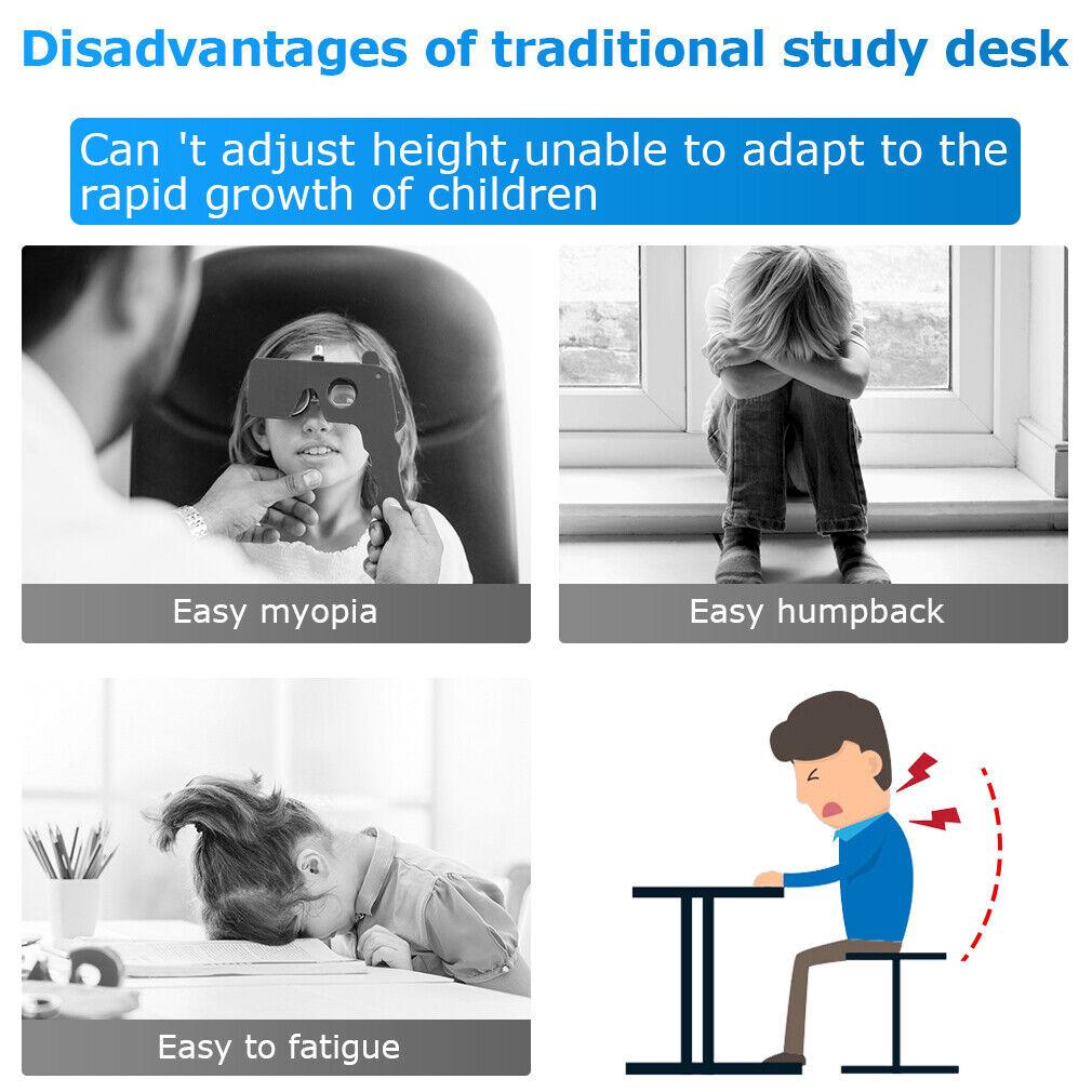 Adjustable Children's Desk Chair Set Child Study Desk Kids Study Table 7049 Desks