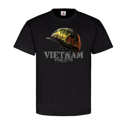 Full Metal Jacket Shirt (Born to Kill Vietnam Südvietnam Helm full metal jacket Gedenken T Shirt #20647)