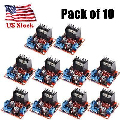 10x Dual Bridge Stepper Motor Drive Controller Board Module For Arduino L298n Op