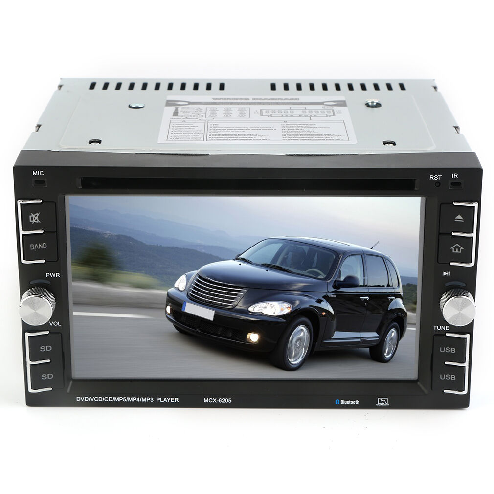 6.2'' HD Touch Screen Double 2DIN Car Stereo DVD CD MP3 Player Bluetooth Radio R