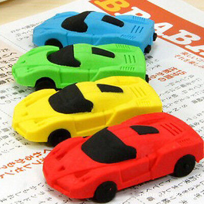 SH US Car Eraser Nontoxic Pencil Rubber School Supplies Creative Stationery Toy