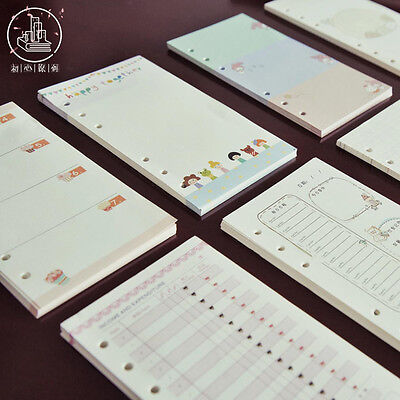 A5/A6 Cartoon Colourful Planner Diary Insert Refill Schedule Organiser 40 Sheets