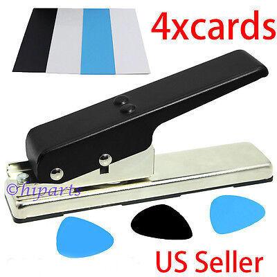 Guitar Pick Punch Maker  Plectrum Card Cutter Tool Cut Machine DIY Strip Sheet