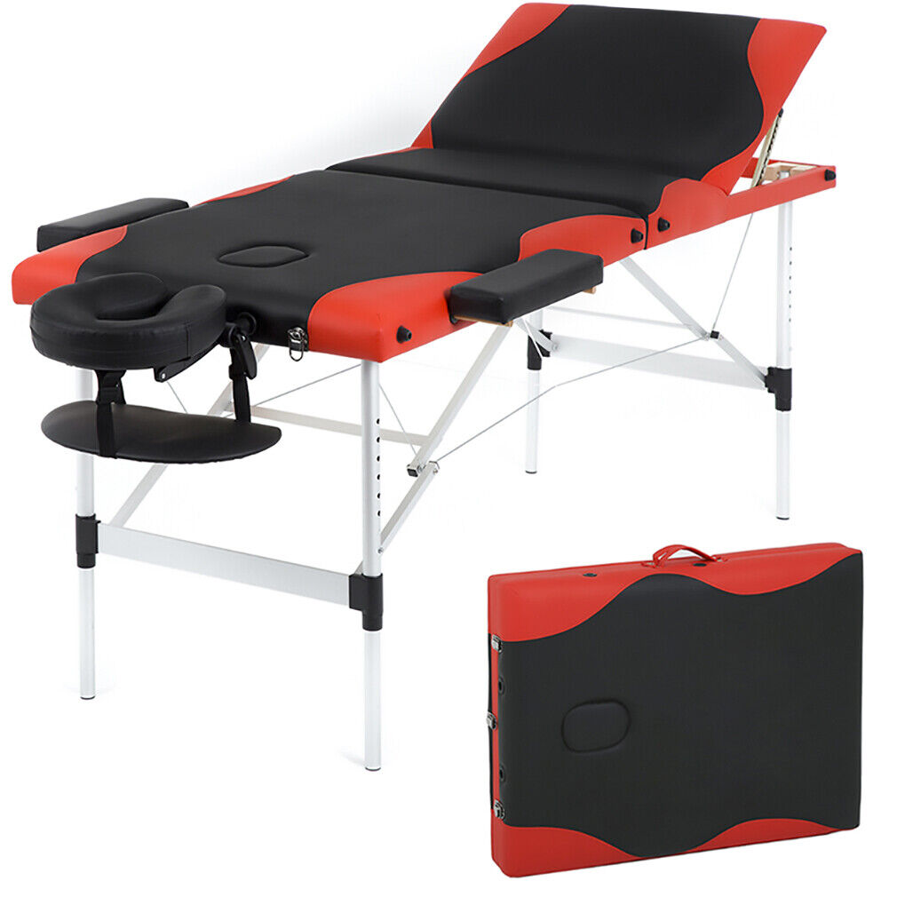 Massage Table Spa Bed Massage Bed 3 Fold 84 Inch Height Adjustable Health & Beauty