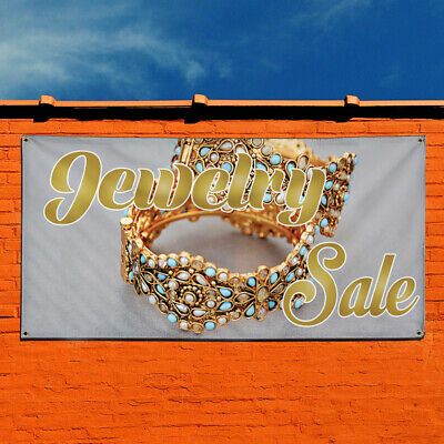 Vinyl Banner Sign Jewelry Sale 1 Style F Jewelry Marketing Advertising Yellow
