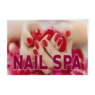 Nail Spa 3 Indoor Store Sign Vinyl Decal Sticker